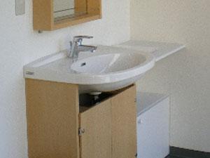 金町 レンタルスタジオ 着替えに便利な洗面台